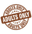 adults only brown grunge stamp vector image vector image