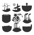 Alternative energy source set vector image