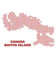 baffin island map - mosaic of valentine hearts vector image vector image