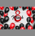 banner for the international womens day 8 march vector image