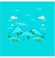Beautiful mountain landscape outline vector image vector image
