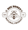 beekeeping farm product bee honey isolated icon vector image vector image