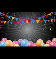 birthday background with colorful confetti vector image vector image