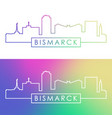 bismarck skyline colorful linear style editable vector image vector image