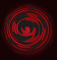 bordeaux spiral on a black background abstraction vector image vector image
