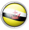 brunei flag design on round badge vector image vector image