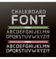 Chalk font in two variations vector image vector image