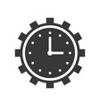 clock and gear time management or maintain icon vector image vector image