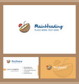 coconut logo design with tagline front and back vector image vector image