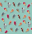 colored ice-cream pattern vector image vector image