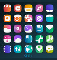 colorful flat icons-set 1 vector image