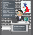 comical uk nation tourism agency vector image vector image