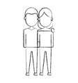 couple with casual clothes icon vector image vector image