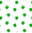 crystal polygonal four-leaf lucky clover seamless vector image