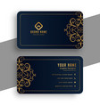 decorative premium black and gold business card vector image vector image