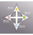 Design with arrows vector image
