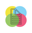 document list - paper icon - web page symbol vector image vector image