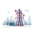 electrician workers characters with tools vector image vector image