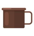 enamel mug icon flat style vector image vector image