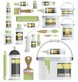 flat design icons set of art supplies art vector image vector image
