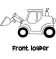 Front loader of art vector image vector image