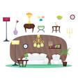 furniture room interior design home decor concept vector image vector image