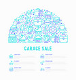 garage sale concept in half circle vector image vector image