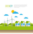 green city ecology energy environment vector image vector image