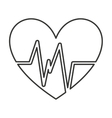 heart cardio pulse icon vector image