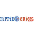Hippie chick vector image vector image