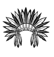 Indian headdress vector image