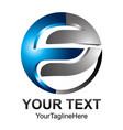 initial letter f logo design template element vector image vector image