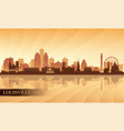 louisville city skyline silhouette background vector image vector image