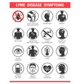 lyme disease symptoms and signs stop ticks sign vector image vector image