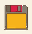 magnetic floppy disc flat icon vector image vector image