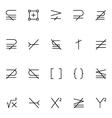 Mathematics Icons 6 vector image