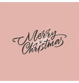 merry christmas lettering with a star vector image vector image