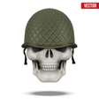 Military US helmet M1 WWII and skull vector image