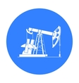 Oil pumpjack icon in black style isolated on white vector image vector image