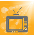 old tv on a yellow background vector image vector image