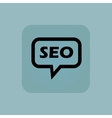 Pale blue SEO message icon vector image vector image