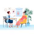 prenatal medicine pregnancy medical checkup vector image