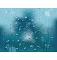 rain drops vector image vector image