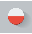 round icon with flag of poland vector image