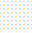 rubber ducks and water drops seamless pattern vector image