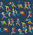 run people jogging athletic summer sport vector image vector image