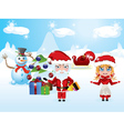 Santa and Mrs Claus3 vector image