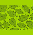 seamless background with green leaves pattern vector image vector image