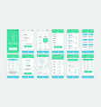 set ui ux gui screens ecology app vector image