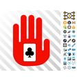 stop gambling hand cards with bonus vector image